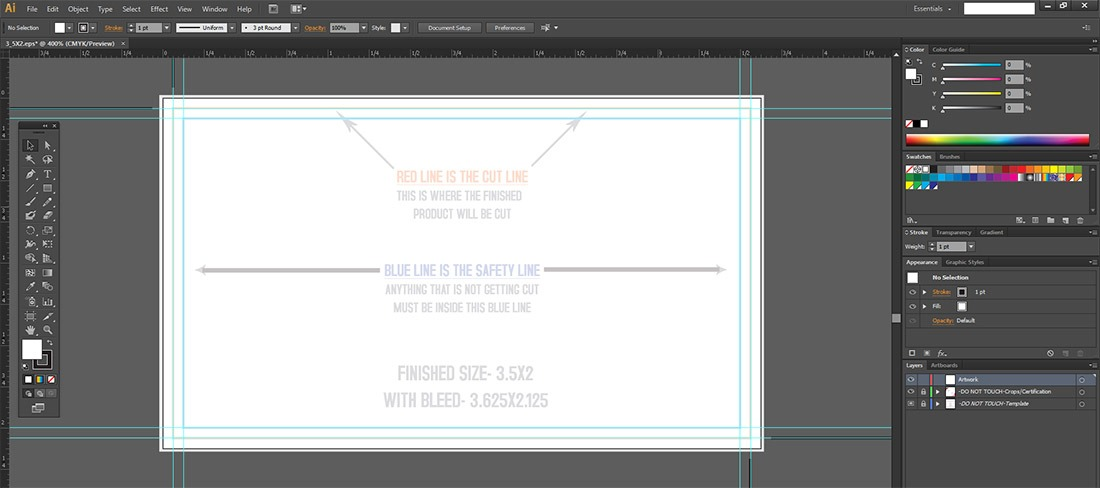 How To Use A Business Card Template - Print Peppermint