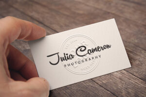 Embossed Business Card Mockup Full