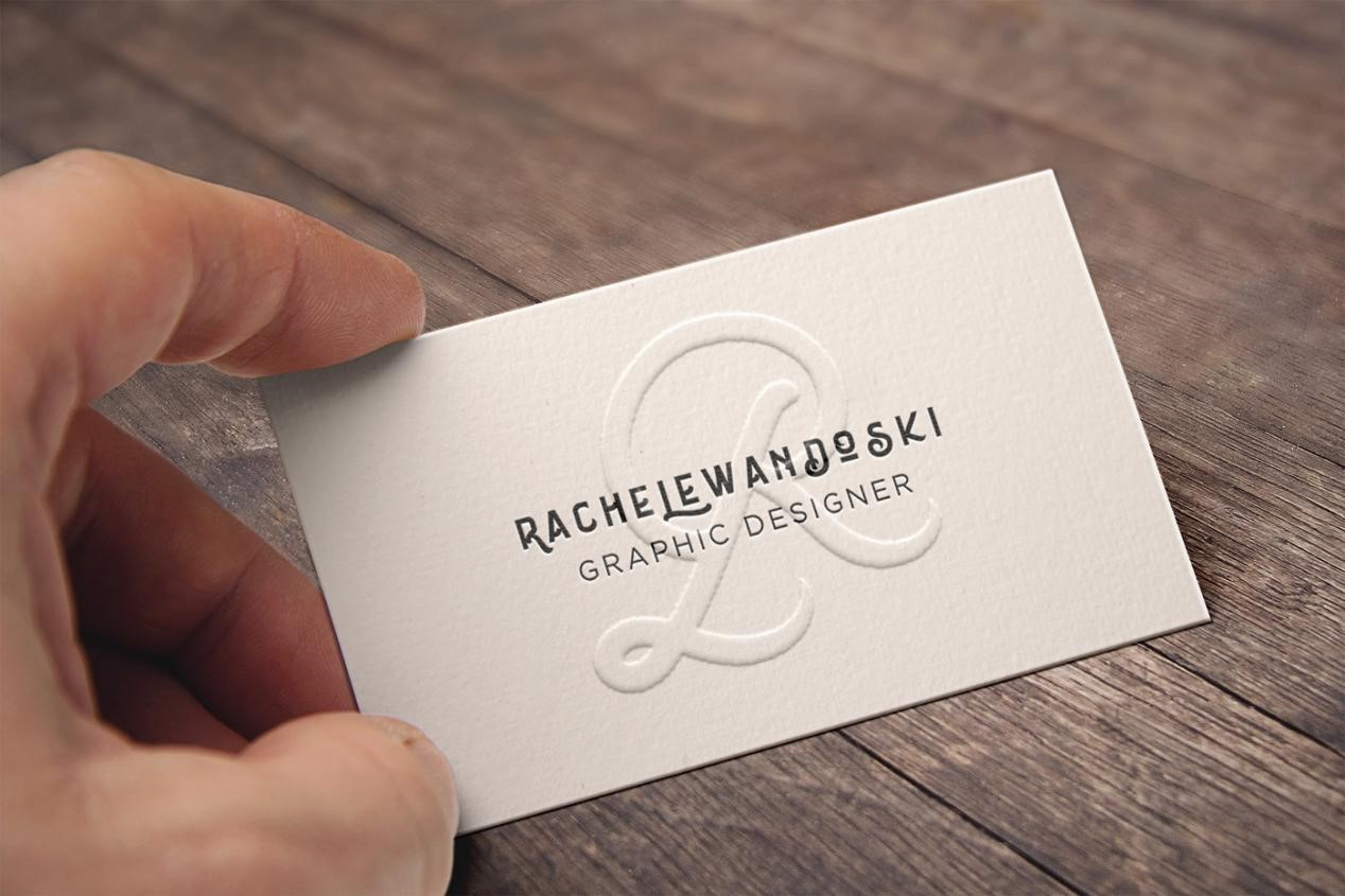 Embossed cards - How to Design A Business Card