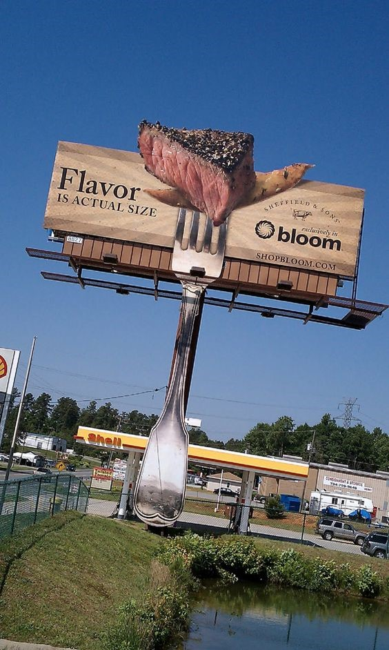 How to design a billboard - the popping steak