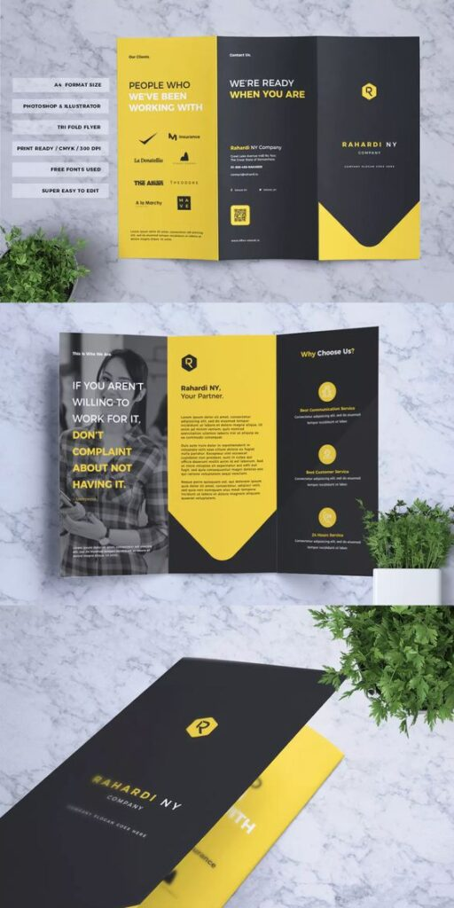 flyers and brochures - stationery design