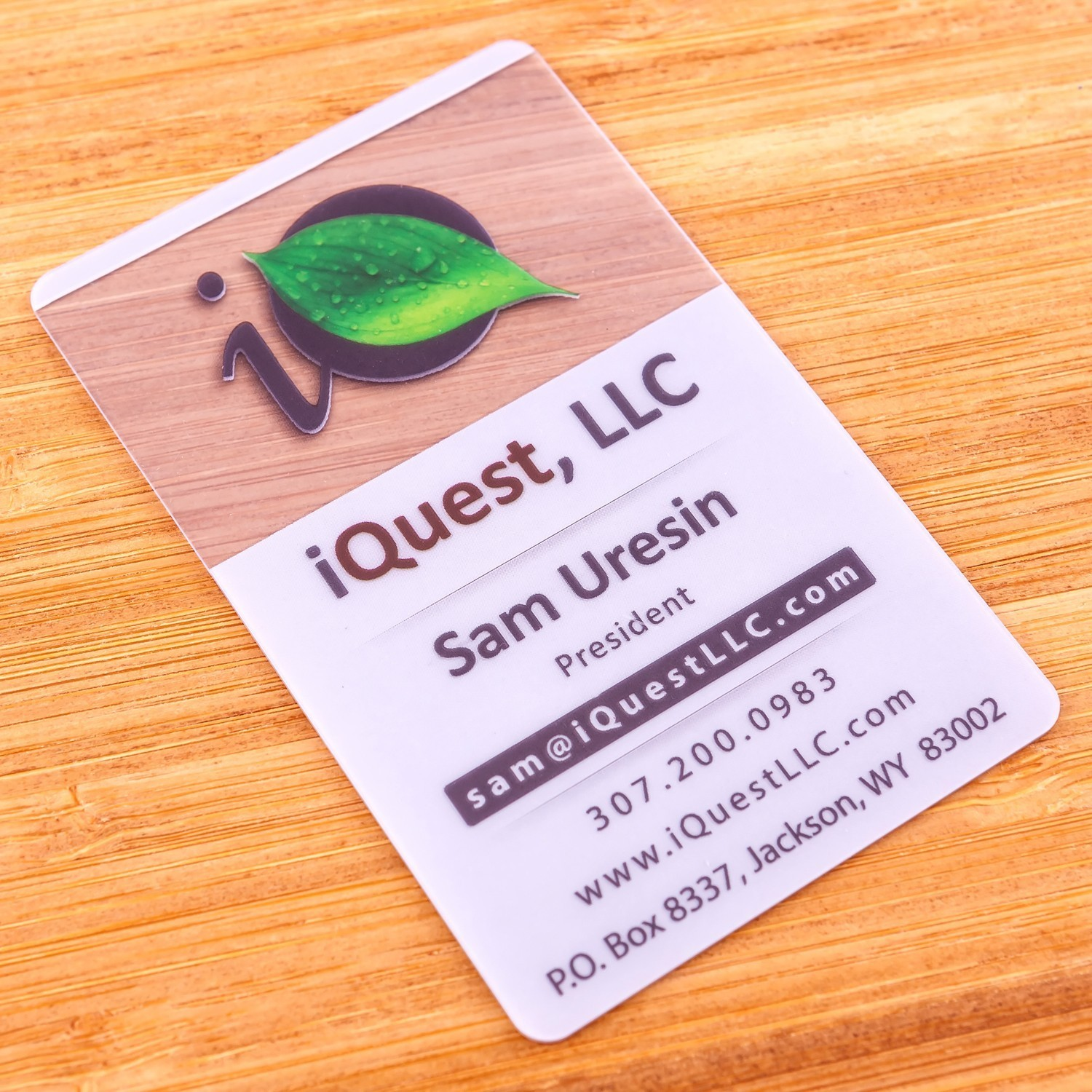 30-pt-clear-plastic-business-card-white-backer-white-ink