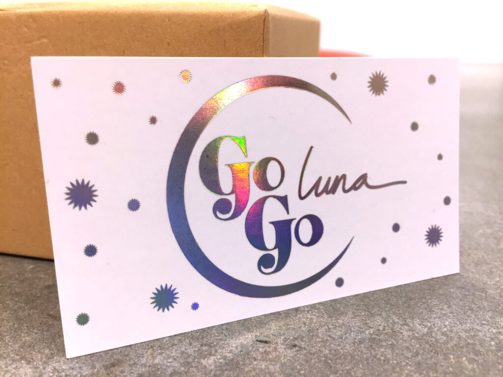 , Go Go Luna's Holograph-Inspired Business Cards, Print Peppermint