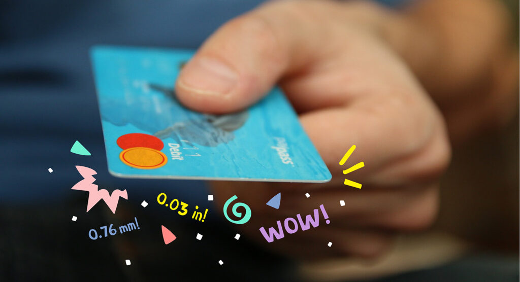 Credit Card Size – What are the Dimensions, Size, & Thickness?, Print Peppermint