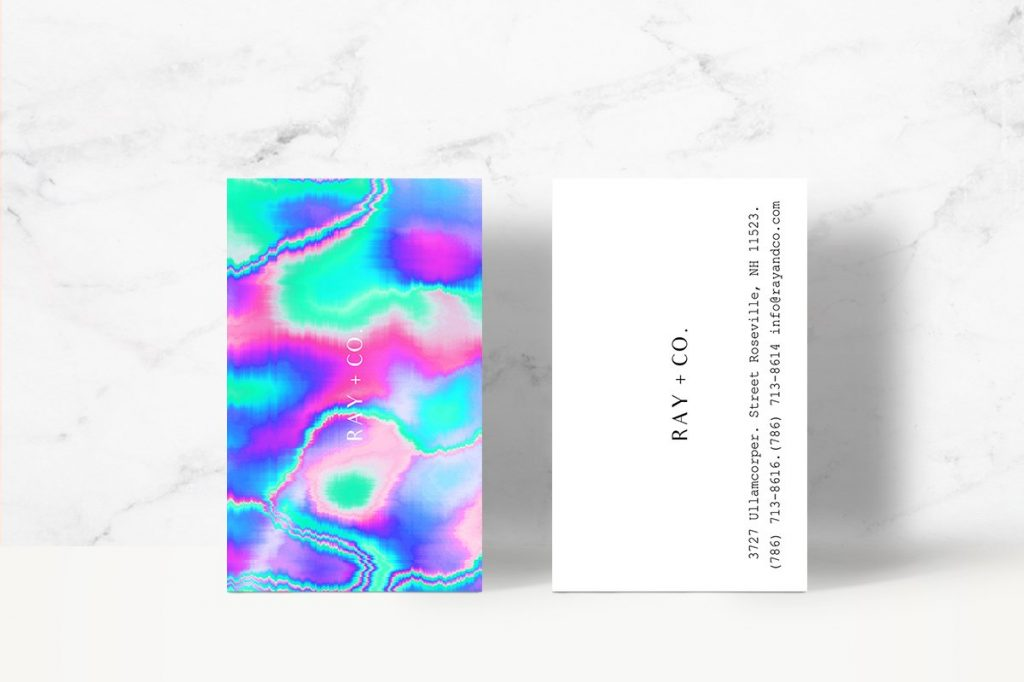 holographic-business-card