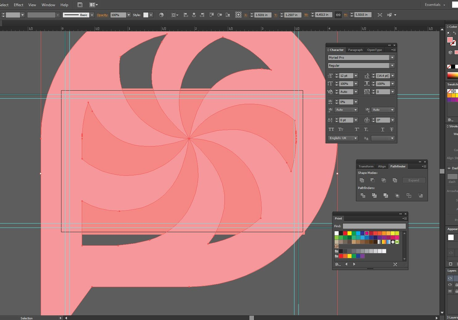How-to-design-a-business-card-in-illustrator-place logo in the template
